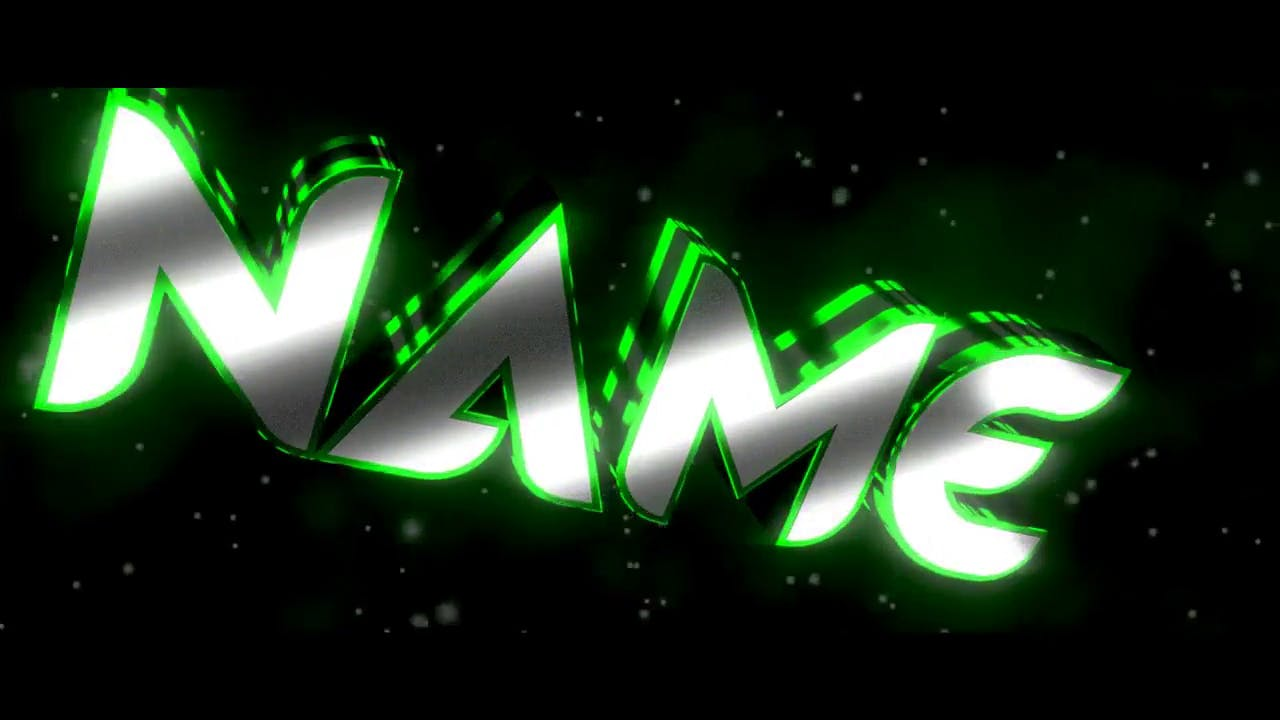 Awesome GREEN stripes Blender Only Intro template