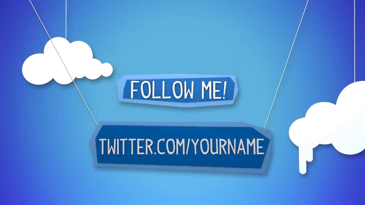 free twitter themed outro template