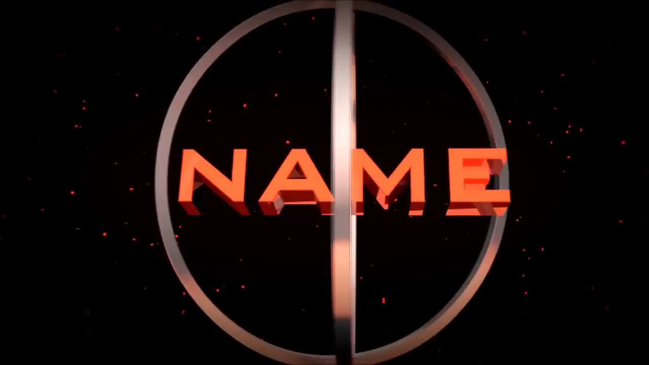 Free Orange Dubstep Blender Intro Template