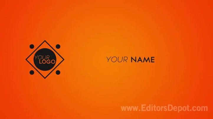 Orange and black awesome intro template Adobe After Effects template