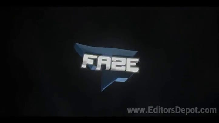 C4D AE FaZe Clan Dubstep 3D Intro Template