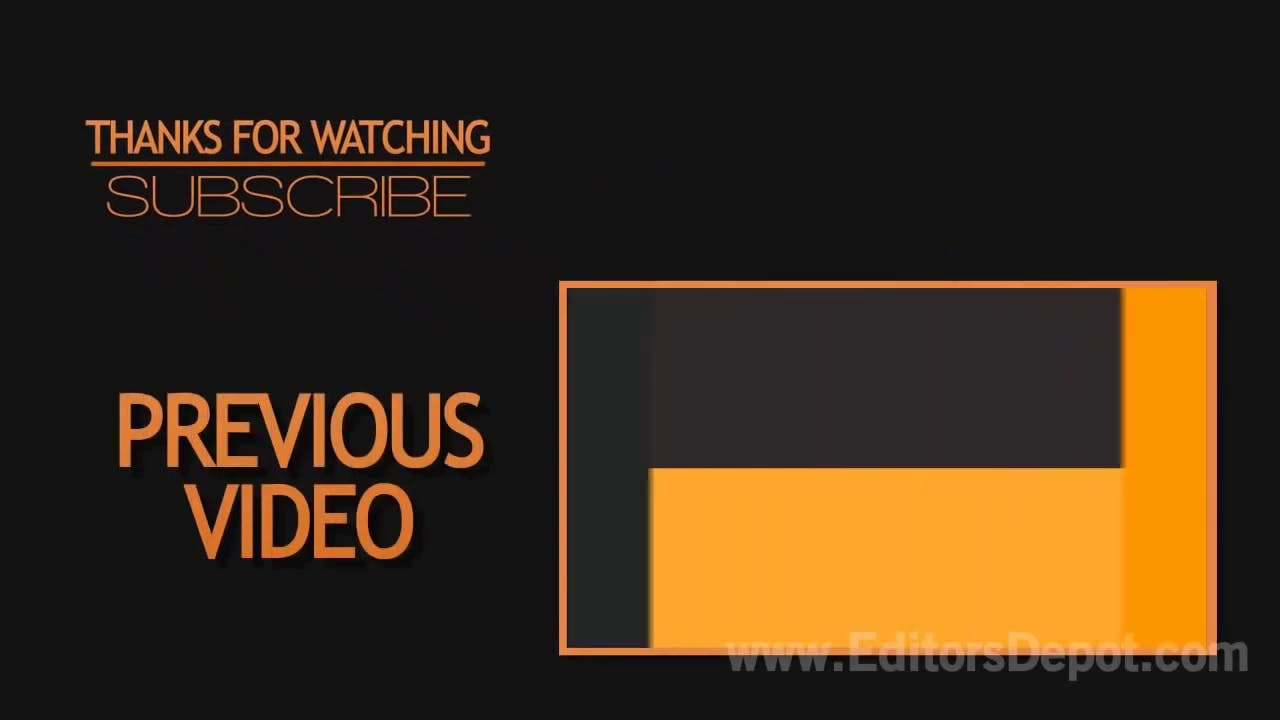 free clean orange 2d outro template