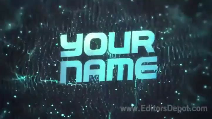Synched Blue Space 3D Intro C4D AE Template