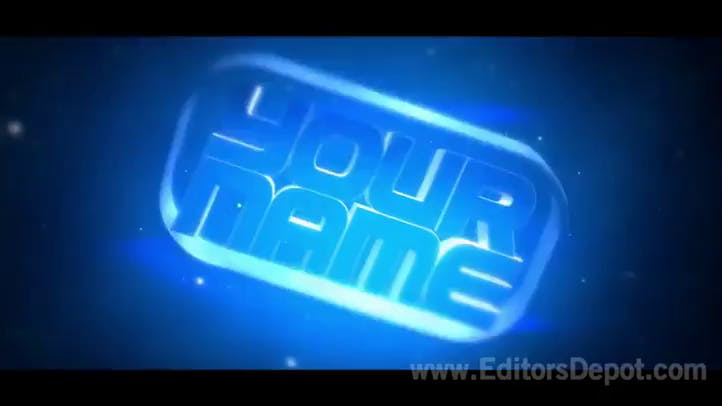 Rainbow Blasts Blue 3D Intro Template