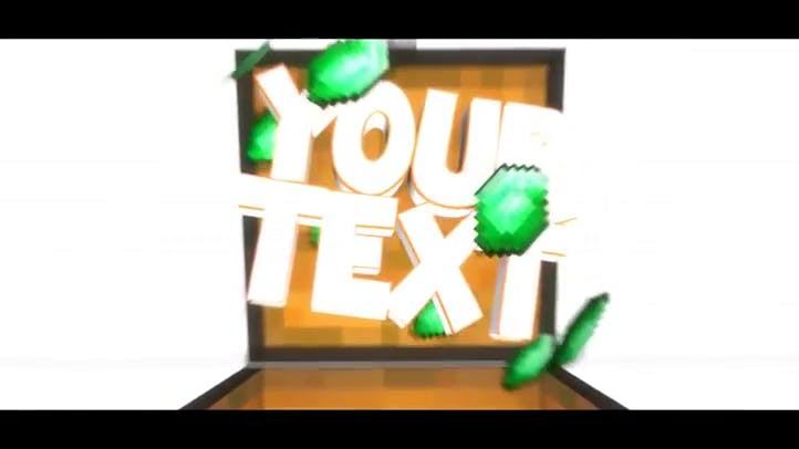 Minecraft 3D Bright Intro Template Blender