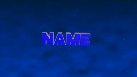 Intense Blue 3d Intro Template