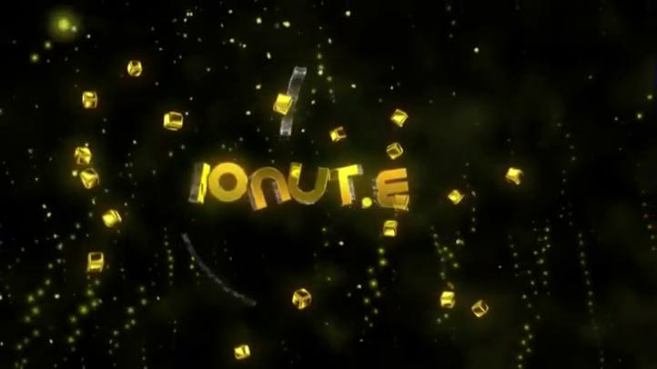 Free 3D golden colored 3D Intro template