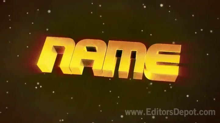 Gold Space 3D Intro Template