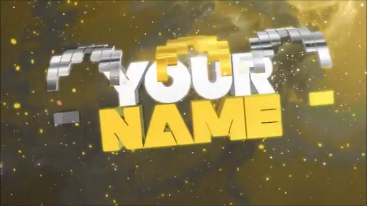 Free Yellow Gold Cinema 4D and Adobe After Effects Intro Template