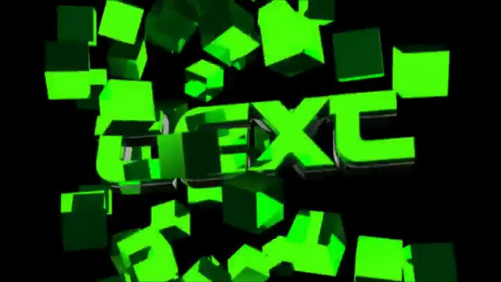 Neon Green FREE 3D Intro Template C4D AE Download