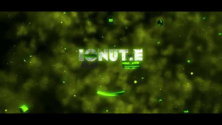 Free 3D intro template on green background 3D C4D AE