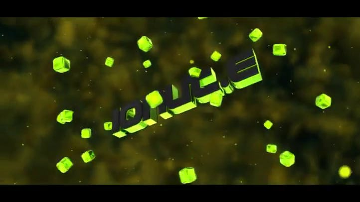 Free intro template in neon green color 3D 11 C4D