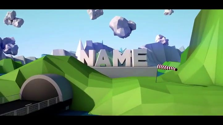 Free Low Poly Intro Template Cinema 4D