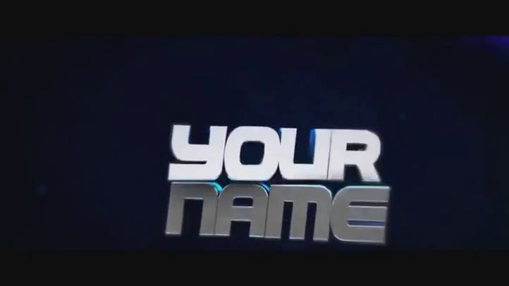 Blue and Chrome After Effects Cinema 4D Intro Template