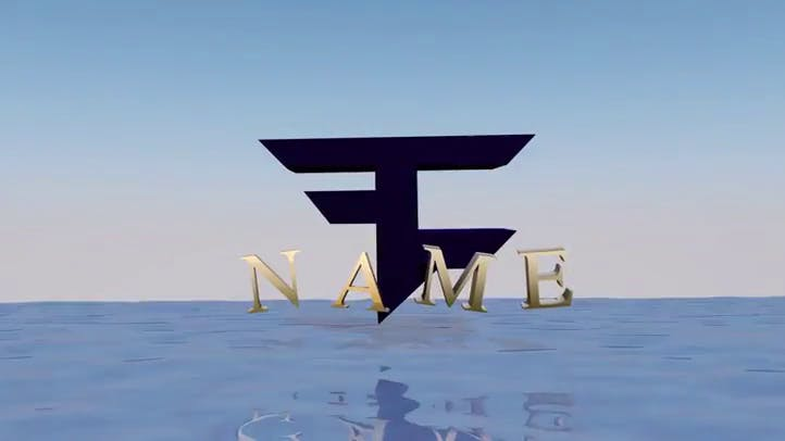 3D Faze Blue Intro Template