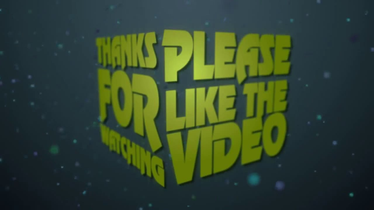 free 2d green outro template