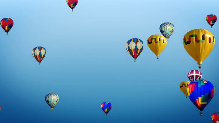 Hot Air Balloons Free Background Loop