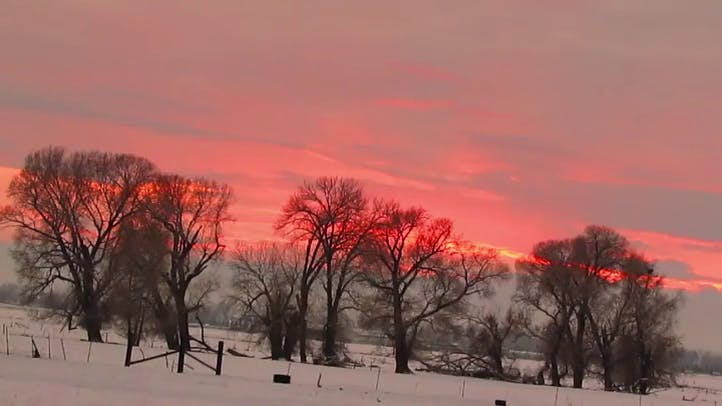 Pink Winter Sunrise Free Stock Footage