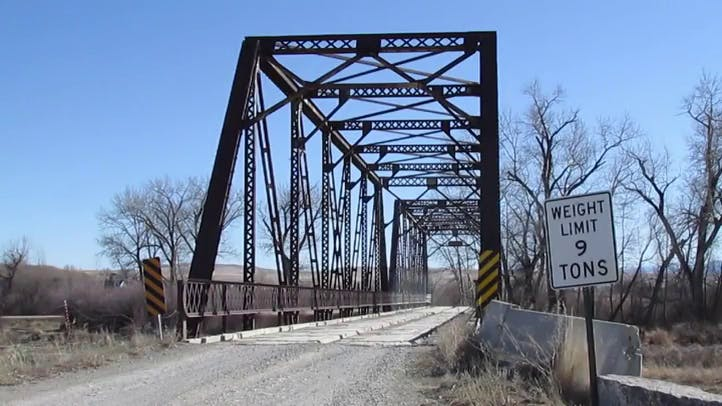 Dirt Road Over Truss Bridge Free Stock Footage