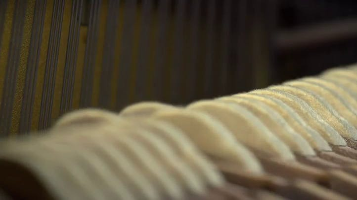 Inside of a Piano playing in slow motion Free Stock Footage