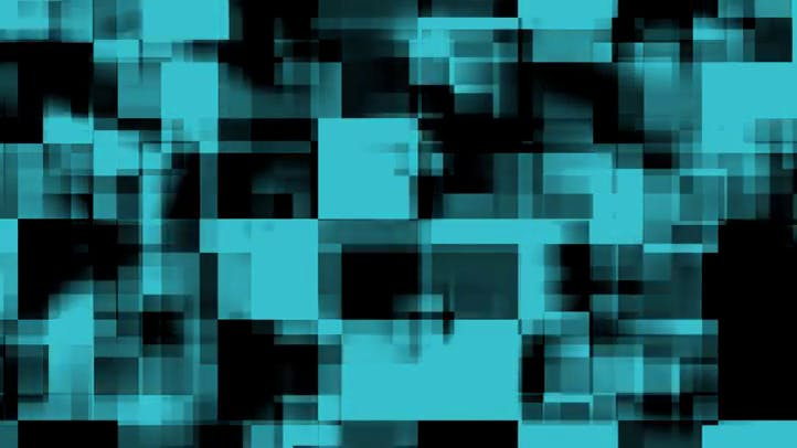 Free Video Background Loop Overlapping Blue Black Squares