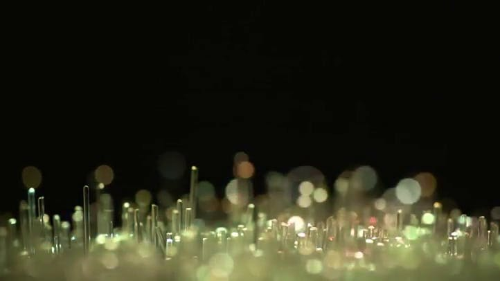 Fiber Optic Tips with color variations Stock footage