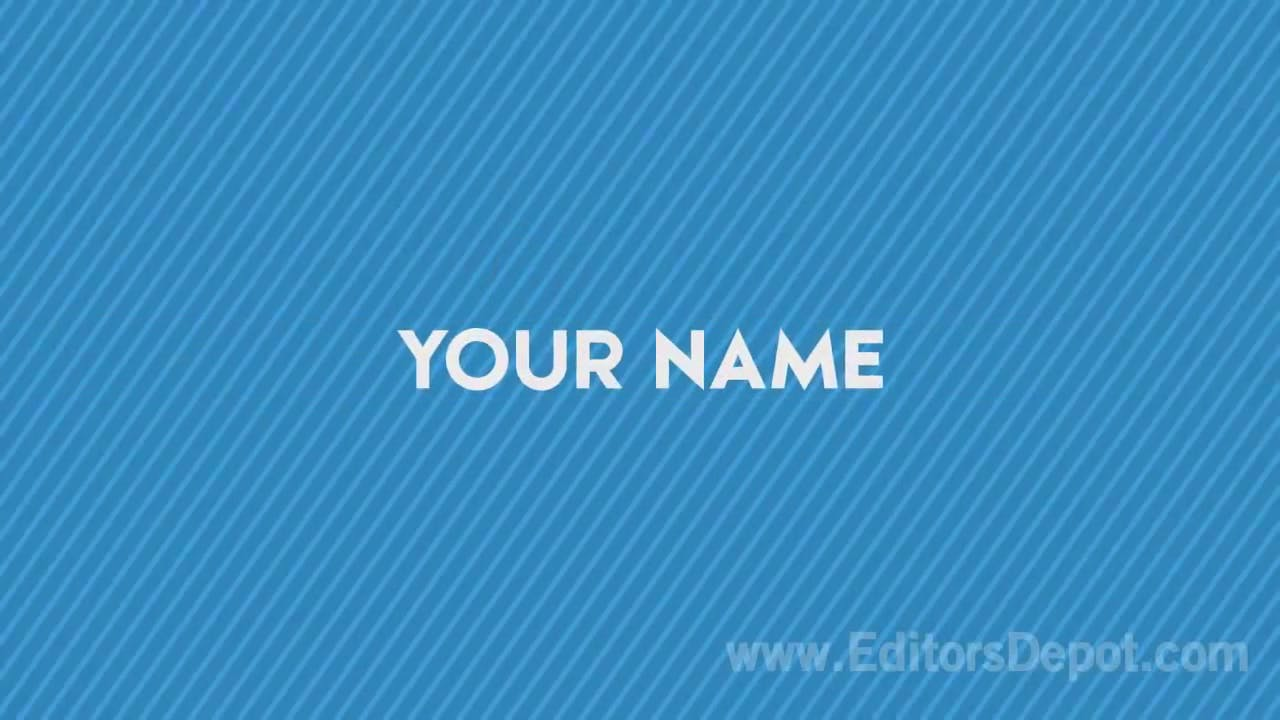 clean simple 2d intro template