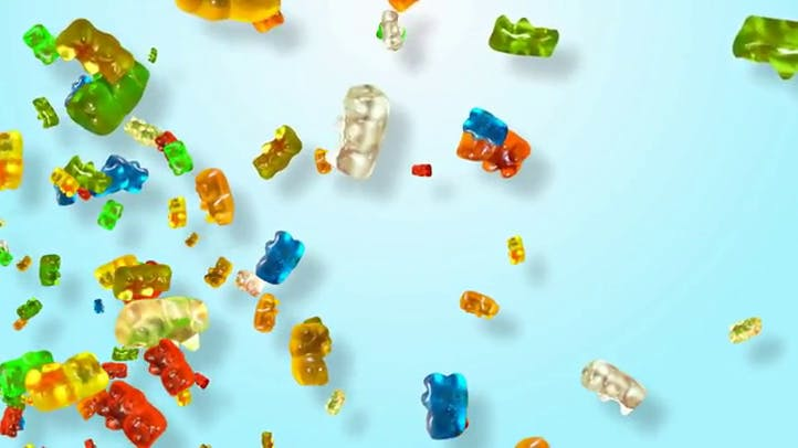 Free Gummy Bears Candy Motion Background