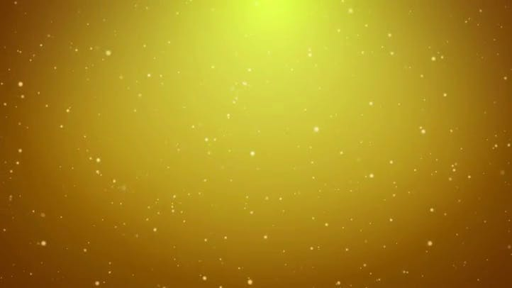 Golden Particle Loop Free Video Presentation Background