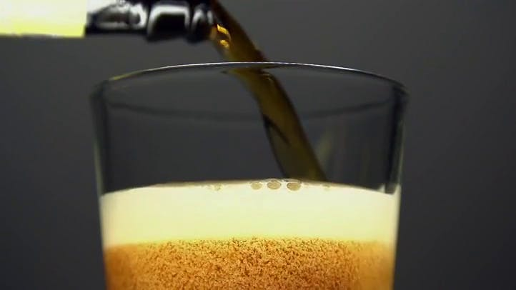 Beer Pour in Slow Motion Stock Footage