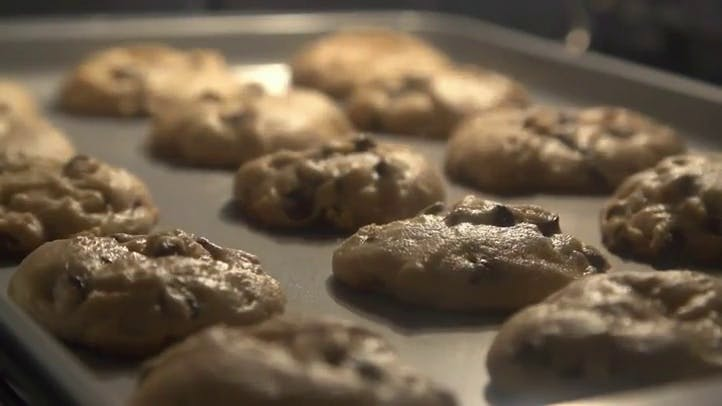 Baking Cookies Time Lapse Stock Footage
