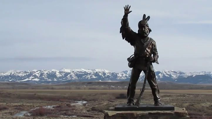 Thunder Jack Mountain Man Statue Shields Valley Montana Free Stock Footage