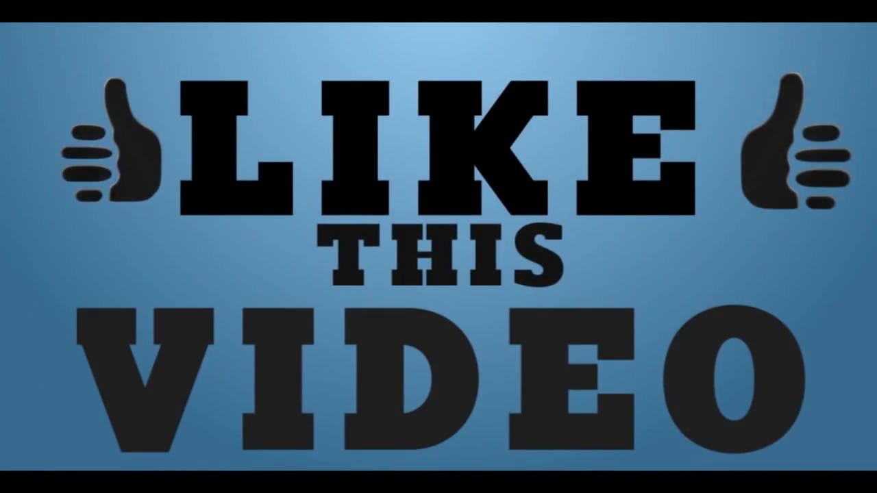 blue typography free outro template