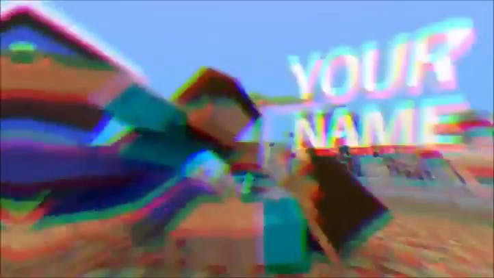 FREE Minecraft 3D Intro Template After Effects