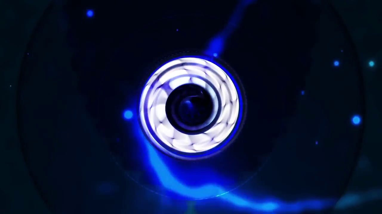 blue energy reveal intro template