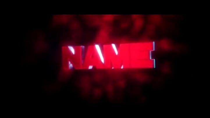 FREE Red 3D Intro Template Cinema 4D After Effects