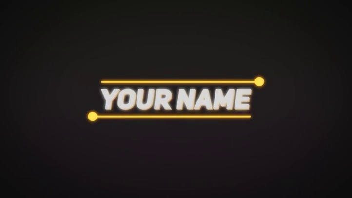 Neon 2D Intro Template After Effects
