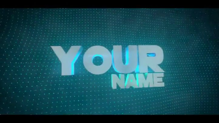 EPIC Free 3D Intro Template Blue Blender Template with Tutorial