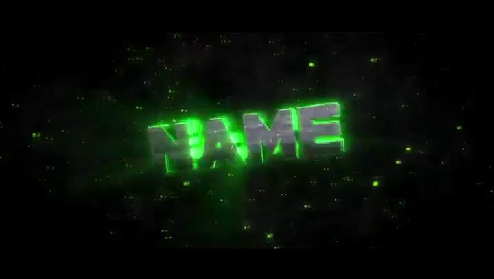 FREE Green Color Sync 3D Blender Intro Template
