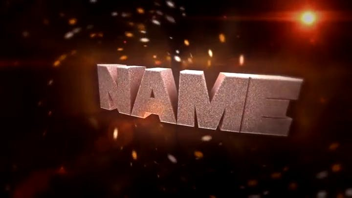 FREE Awesome Flames 3D Intro After Effects and Cinema 4D Template