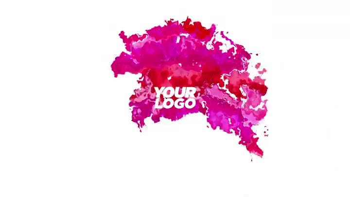 FREE Clean and Colorful Liquid Ink Introduction Template After Effects
