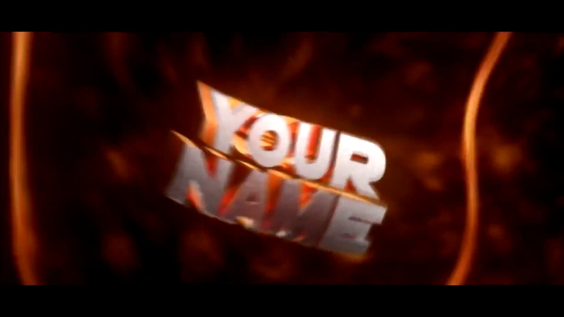 FREE Orange Lines After Effects Cinema 4D Intro Template