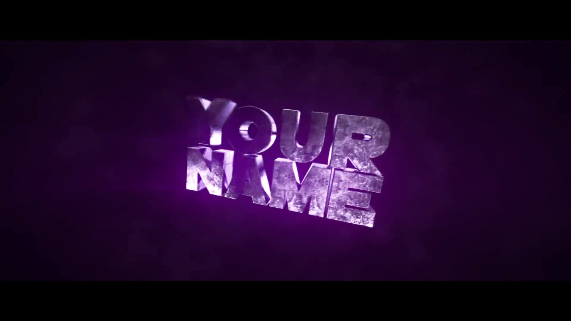 FREE Slick Purple 3D Cinema 4D After effects Intro Template