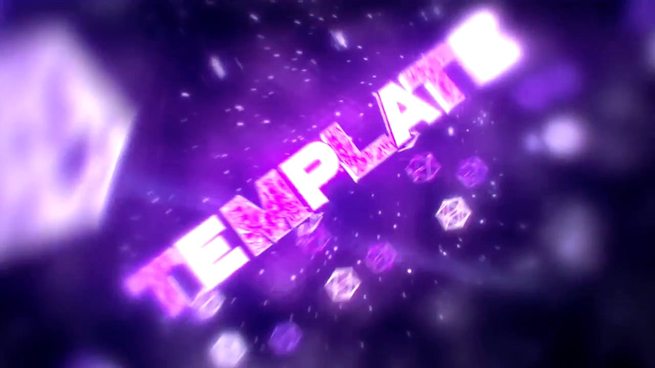 FREE Purple Cubes Intro Template Cinema 4D After Effects