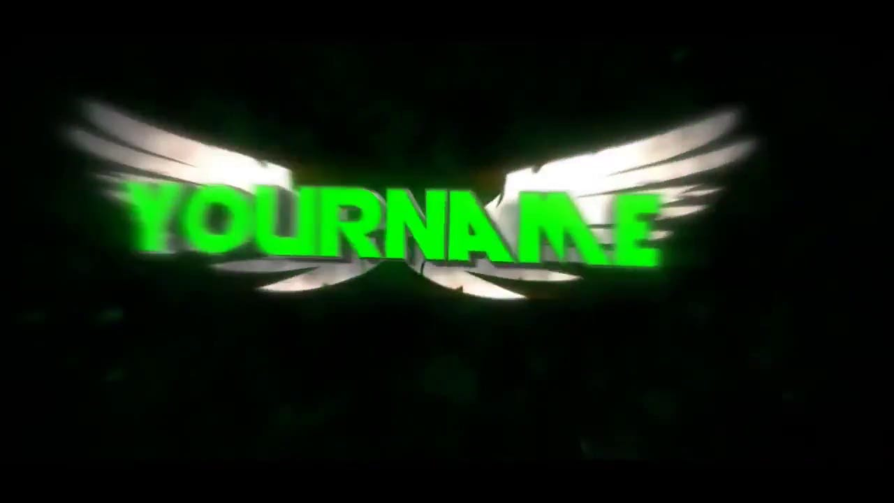 Green Wings After Effects Cinema 4D Intro Template