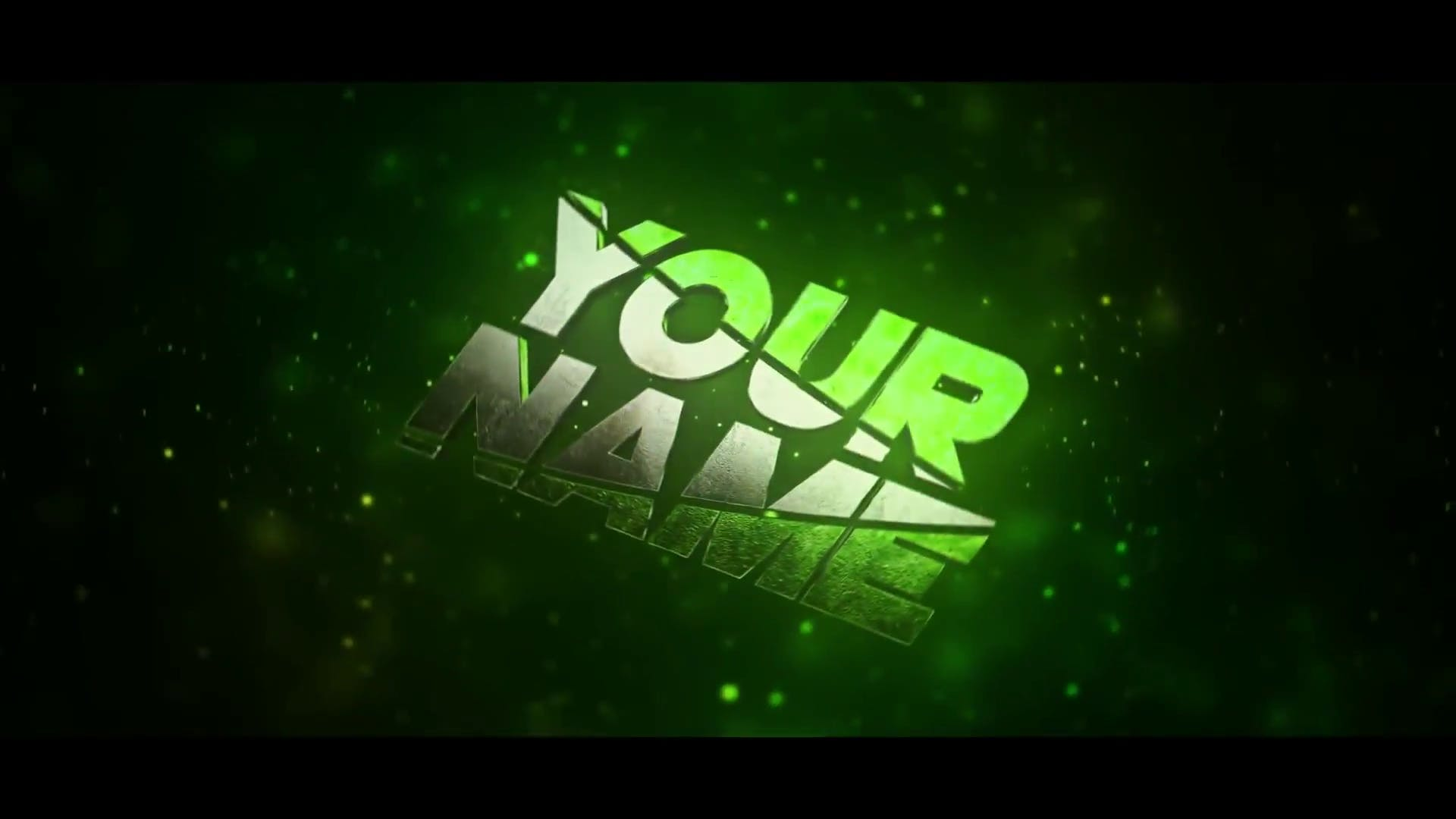 GREEN Particles 3D Intro Template Cinema 4D After Effects