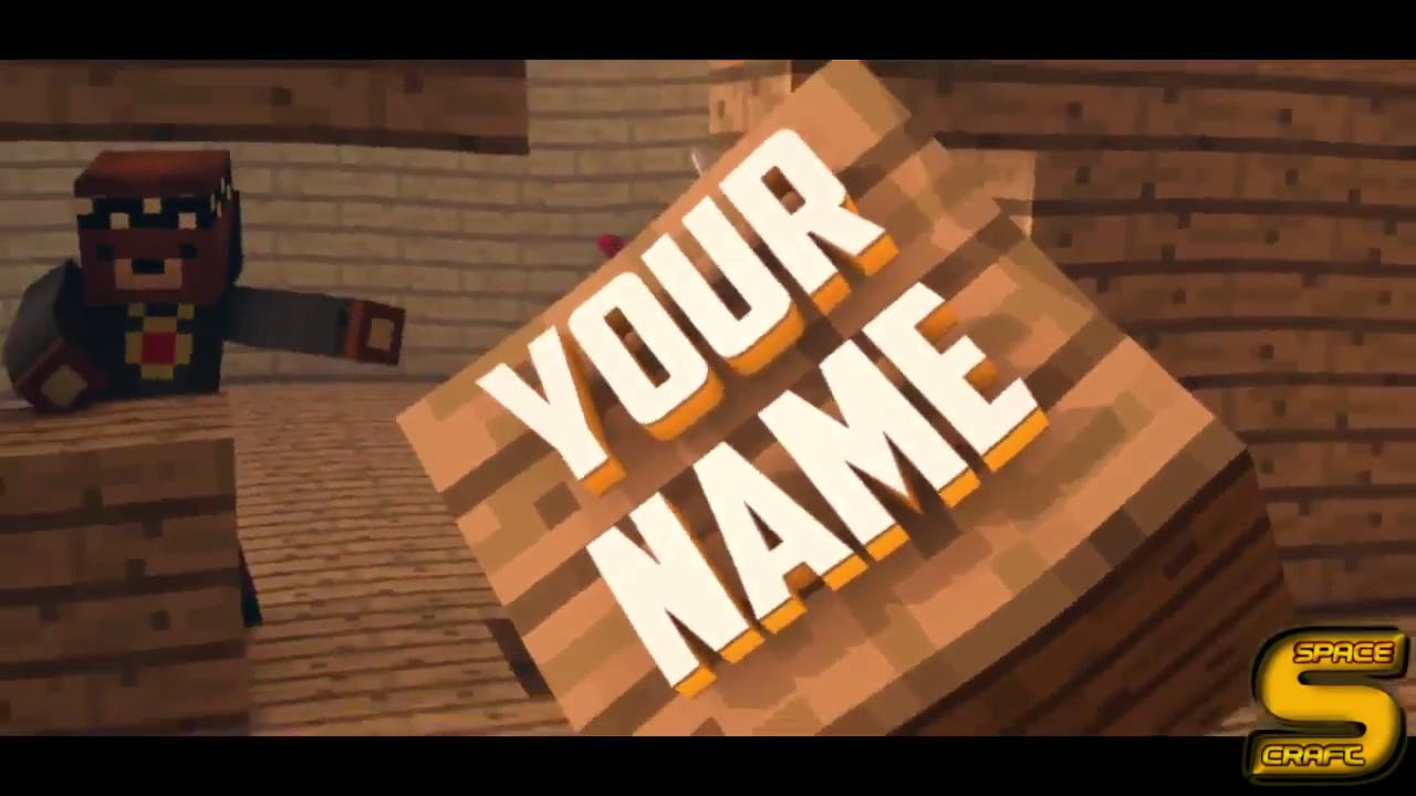 FREE 3D Minecraft Awesome Intro 2015 Cinema 4D After Effects Template