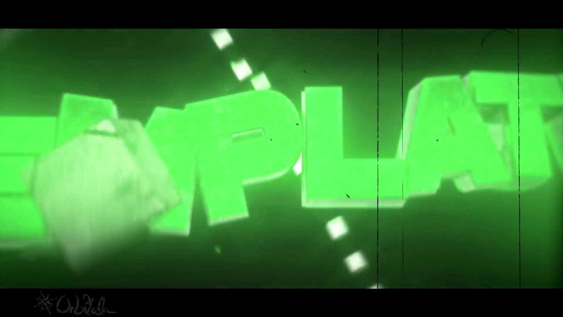 Bright Green Block Intro Template Cinema 4D After effects