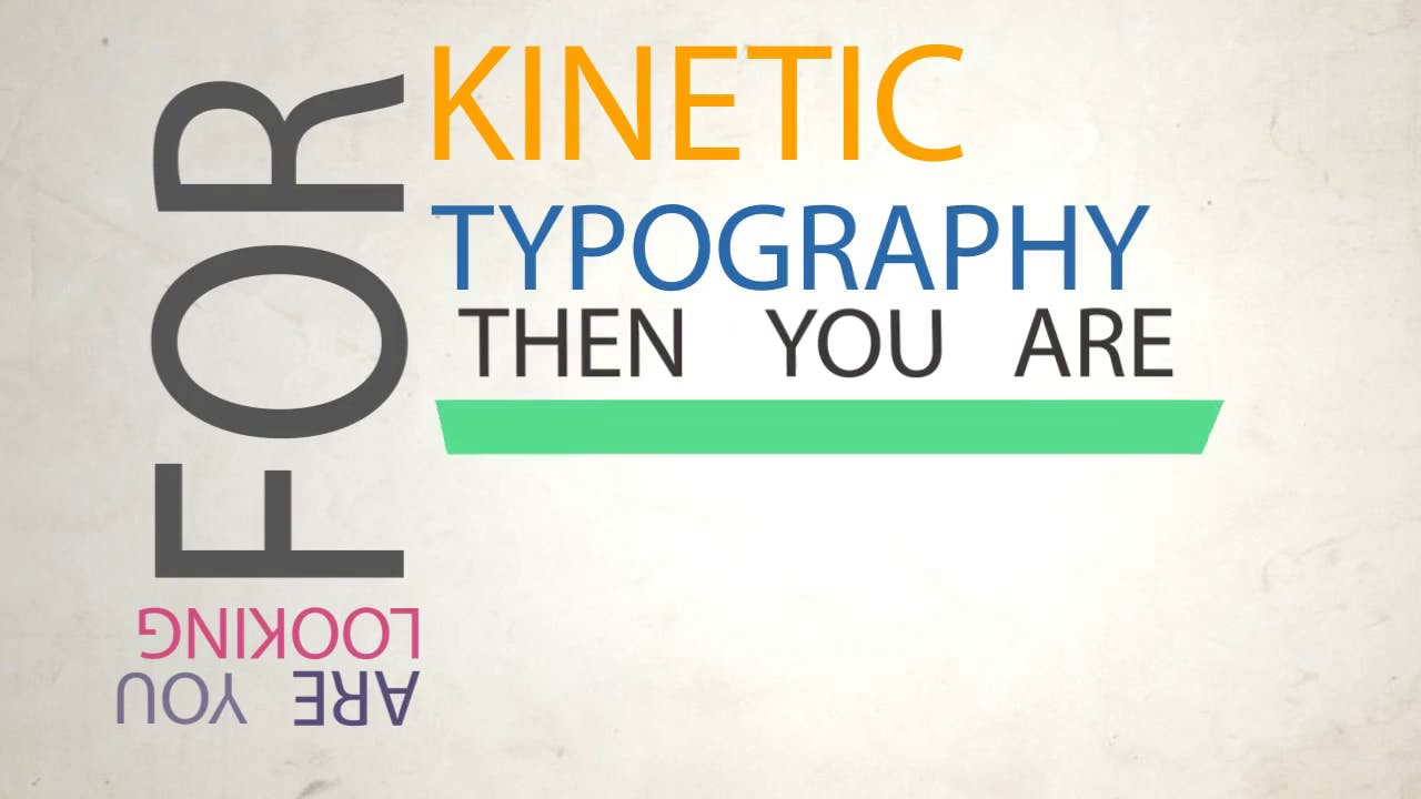 FREE Kinetic Typography After Effects Template 2015