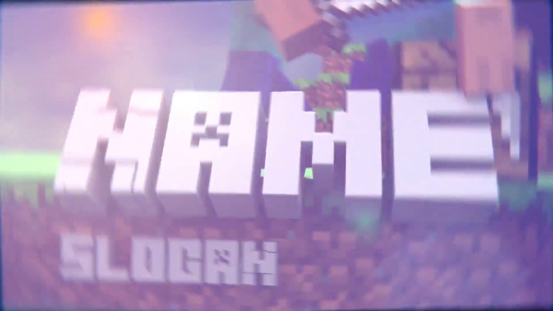 FREE Minecraft Gaming Intro Blender Template